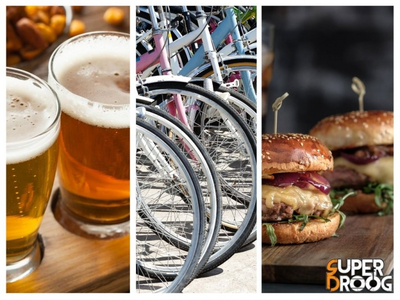 Beer, bike & burger